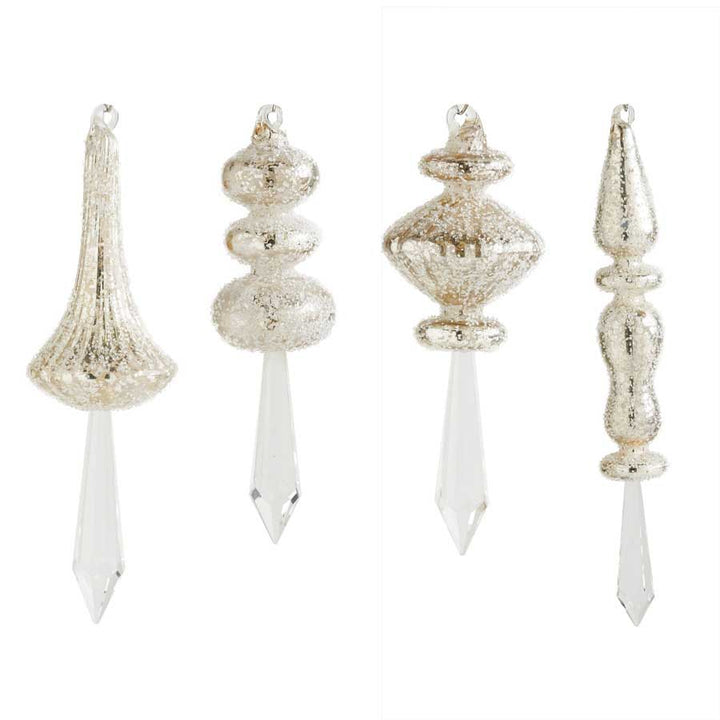 Assorted Beaded Crystal Finial Ornaments (4 Styles) Sold Individually