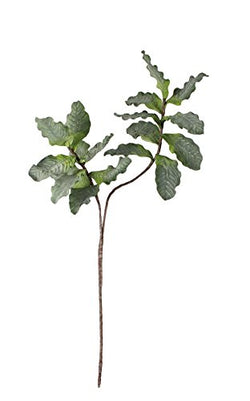 Green Leafy Stem of Faux Fig Leaves 46 inches Tall-Set of 6
