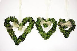 Heart Shaped Preserved Boxwood Wreath