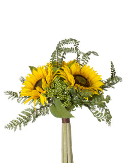 "13"" Yellow Sunflower and Fern Bundle"