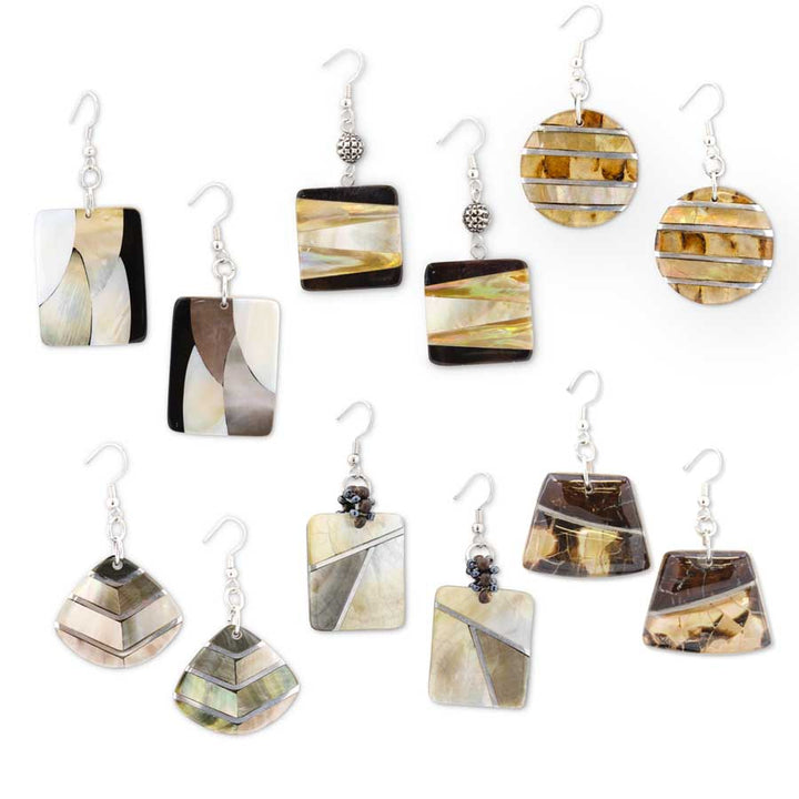 2 Inch Rectangle Mosaic Earrings
