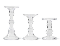 9.25 Inch Short Glass Candle Holder
