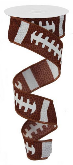 "Expressions Football Theme Wired Edge Ribbon-1.5"" x 10yd"