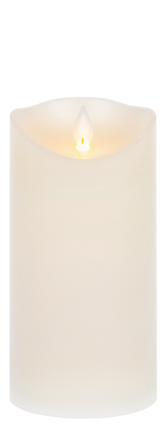 "Wax LED Pillar Candle-6""x3"""