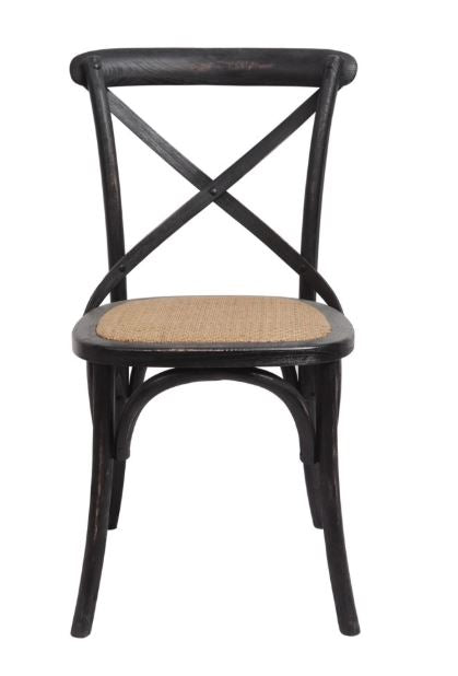 Brody X-Back Side Chair (Black Wash)