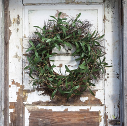 "Gathered Olive And Twig Wreath-24"" Diameter"