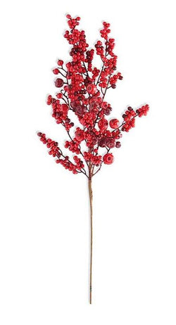 30 Inch Rosehip and Red Berry Stem