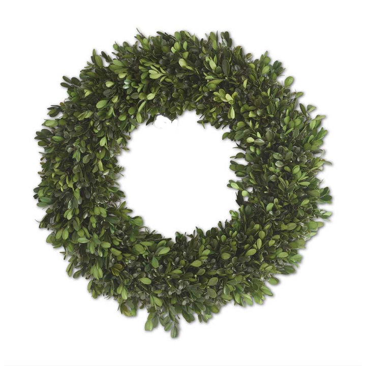 18 Inch Round Mixed Boxwood Wreath