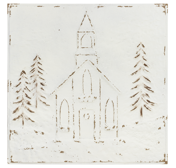 Embossed Church Wall Decor