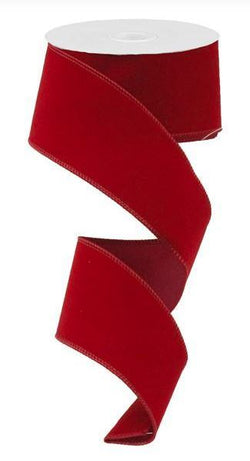 "2.5""X10yd Indoor Velvet Wired Edge Ribbon"