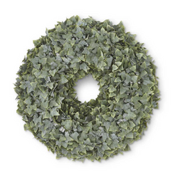22 Inch Real Touch Powdered English Ivy Wreath