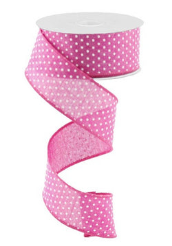 "1.5""X10yd Raised Swiss Dots On Royal Wired Edge Ribbon"