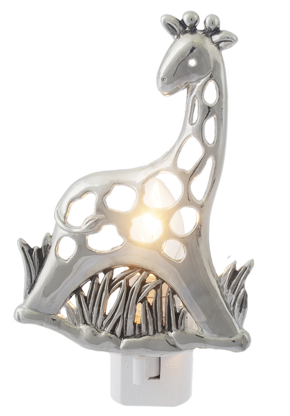 Giraffe Night Light, 5-inch Height, Silver