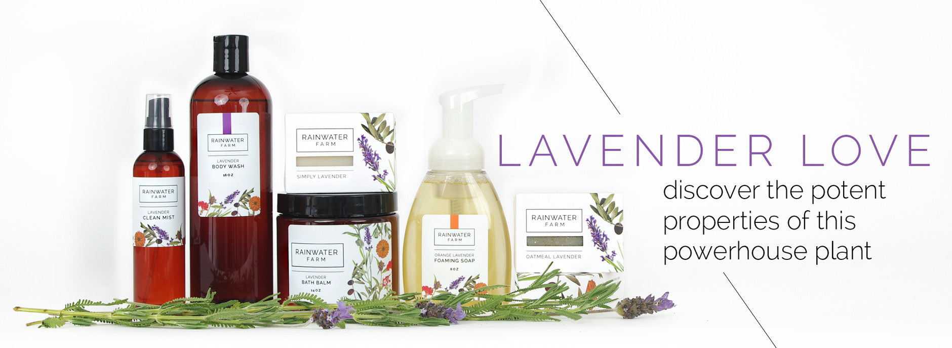 Rainwater Farm Lavender Product Line