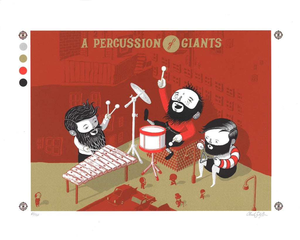 A PERCUSSION OF GIANTS