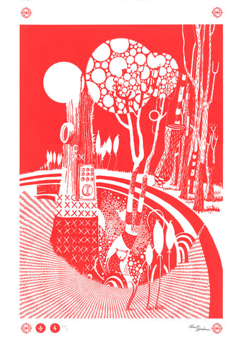 FOREST Screen Print - Red