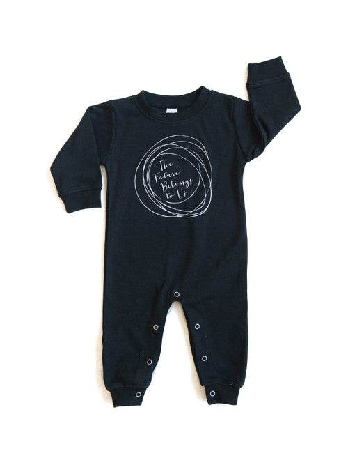 The Future Belongs to Us Romper || Black