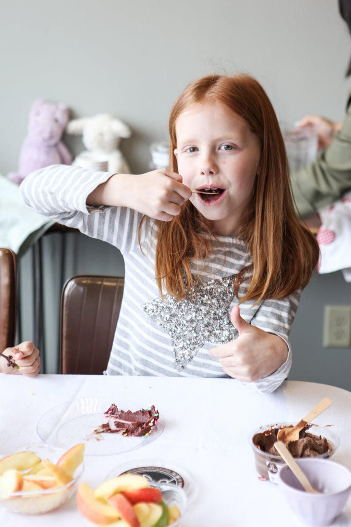 How to Build a Pure and Simple Kid's Dessert Bar delightedbydesserts.com #dessert #glutenfree #kidsbirthday #kidsparty