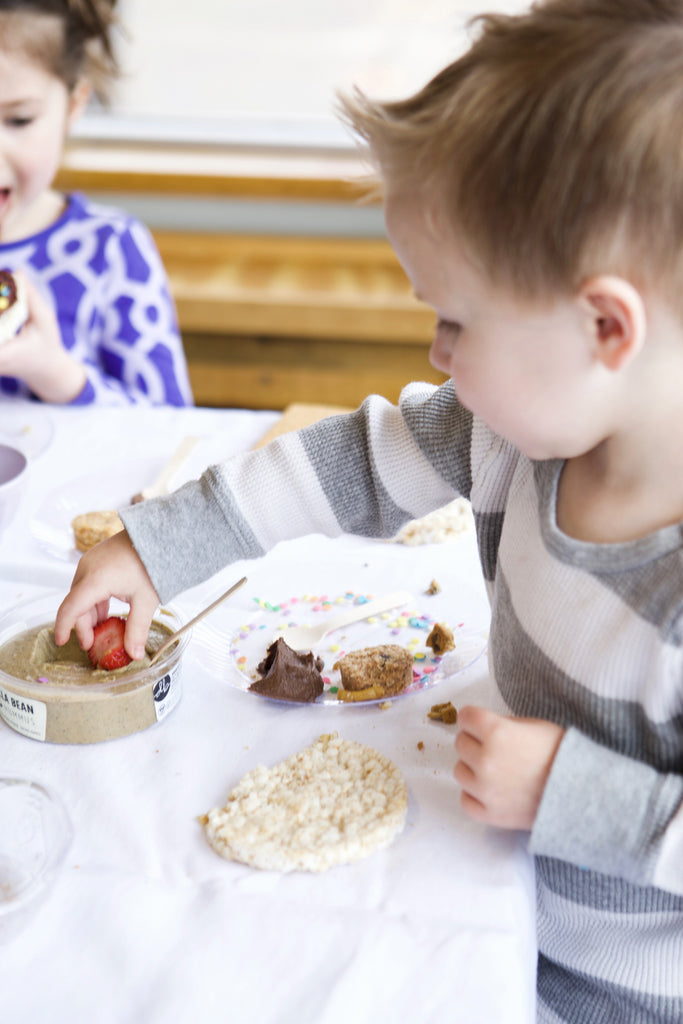 How to Build a Pure and Simple Kid's Dessert Bar delightedbydesserts.com #dessert #glutenfree #kidsbirthday #strawberries