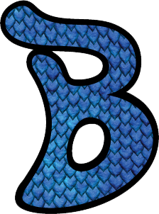 "Blue Scale ""B"" logo sticker"