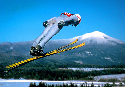 Ski Jumper In Lake Placid NY