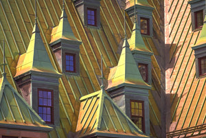 The Copper Roofs Of Quebec