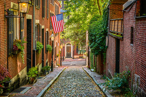 Boston's Beacon Hill - Acorn Street