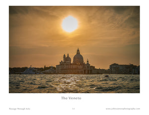 Photograph of sunset over Venice Italy