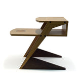 modern bamboo coffee table with wenge supports