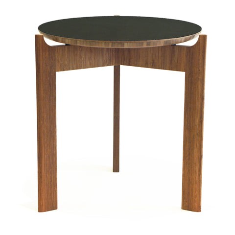 Chux Float Series modern bamboo side table three leg