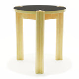 modern bamboo three leg table with laminate top
