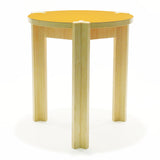 modern side table yellow top