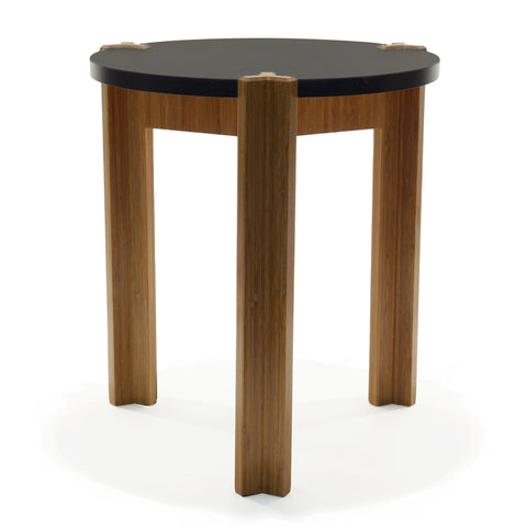 Chux Sadie modern bamboo side table three leg