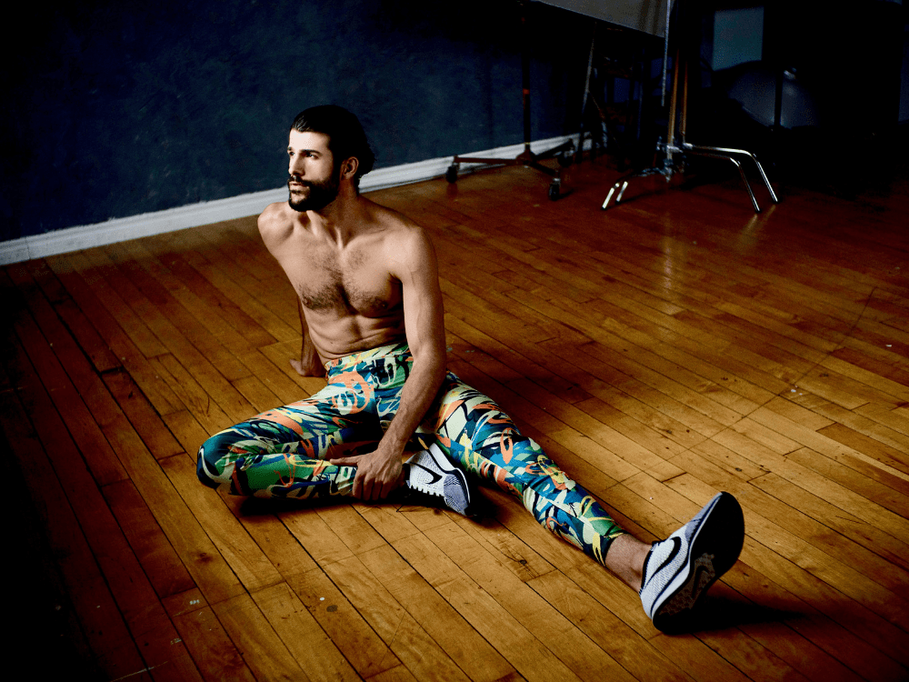 kapow originals range of mens leggings for yoga running fitness