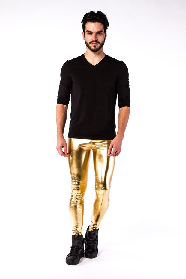 24 Carat Meggings - Metallic Metallic Meggings Kapow Meggings