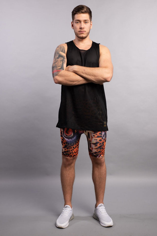 Aeromesh Action Tank / Midnight Black Tank Tops Kapow Meggings