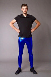 Cobalt Shock Meggings - Metallic Metallic Meggings Kapow Meggings
