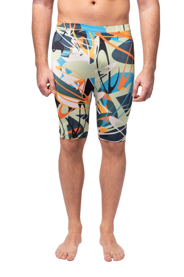 Electric Graffiti Compression Shorts