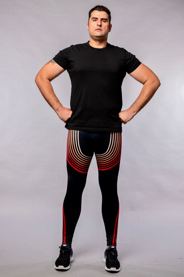 Black & Red Compression Leggings