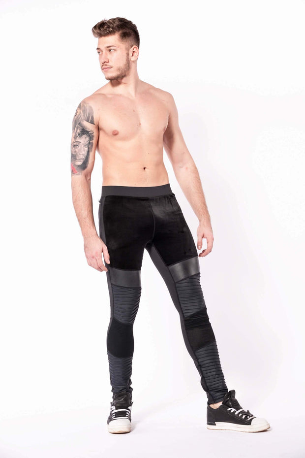 Sabre mens leggings shirtless side