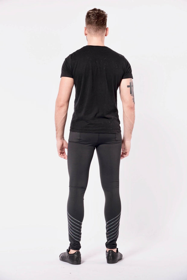 Sonic Boom mens leggings back
