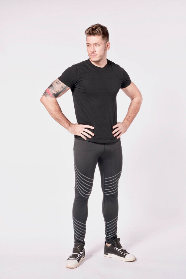 Sonic Boom mens leggings front