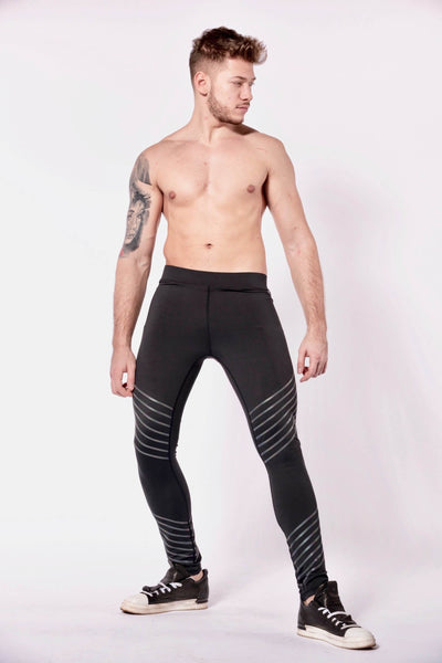 Sonic Boom mens leggings shirtless front