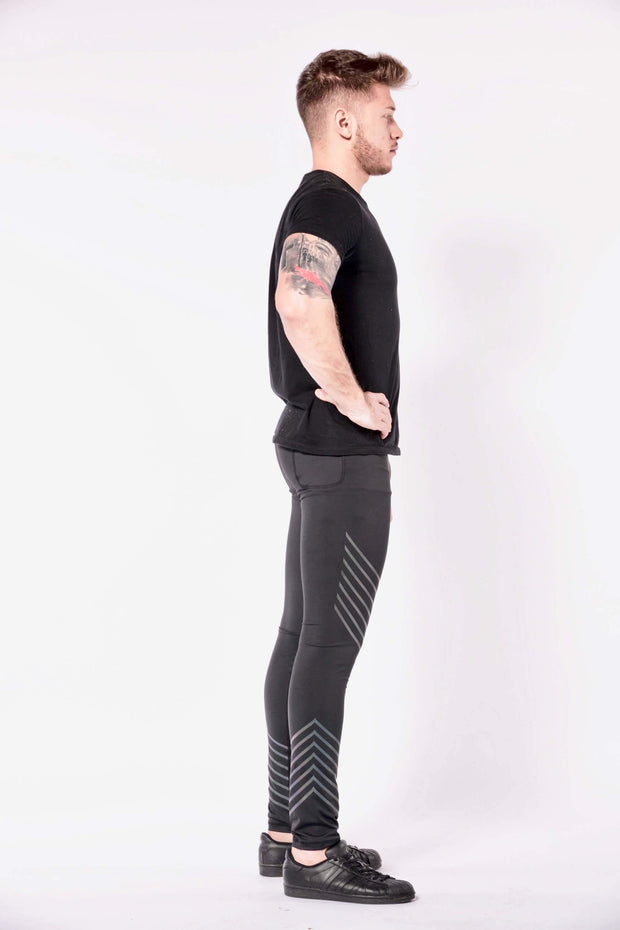Sonic Boom mens leggings side
