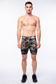 Jungle Print Compression Shorts
