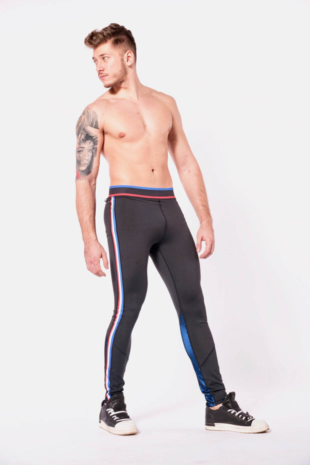 Vanquish mens leggings shirtless side