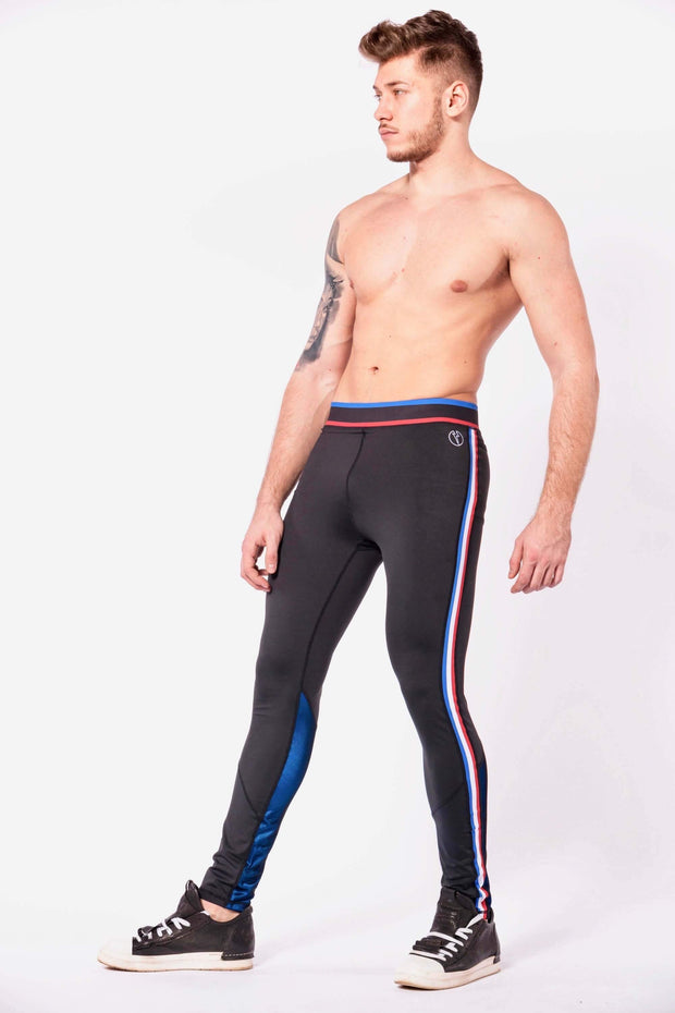 Vanquish mens leggings shirtless side left