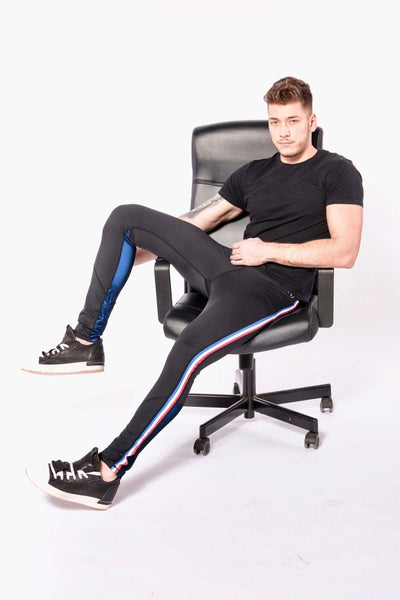 Vanquish mens leggings sitting in chair