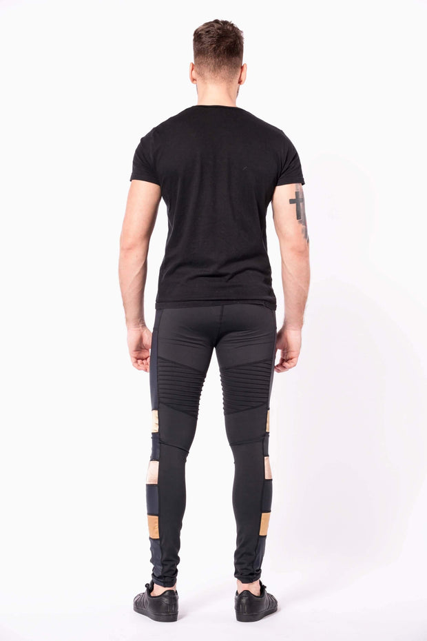 bronze warrior mens leggings back