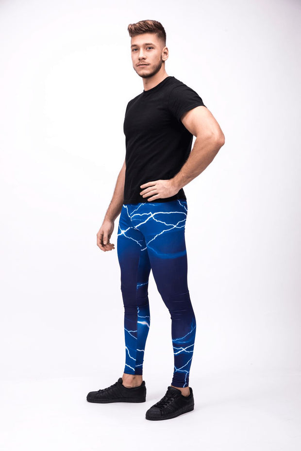 Blue Lightning Men's Leggings